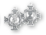 Saint Michael Sterling Silver Maltese Cross